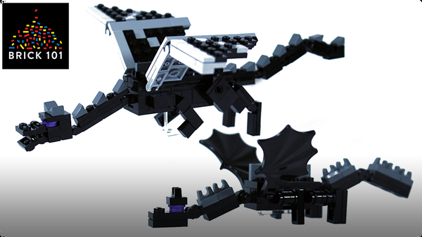 How To Build LEGO Minecraft Ender Dragon