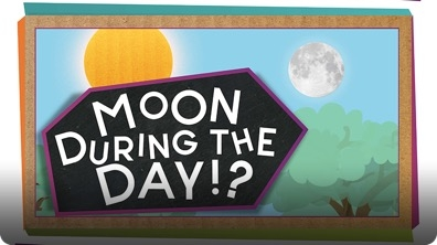 SciShow Kids: Why Can I See the Moon During the Day?