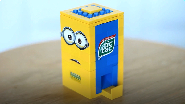 How To Build a LEGO Minion Tic Tac Candy Machine!
