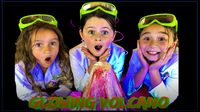 How To Make a GLOWING VOLCANO ERUPTION!  Easy Kids Science Experiments