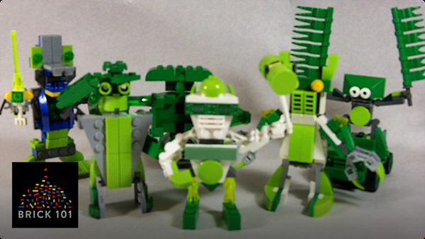 How To Build Green LEGO Robots