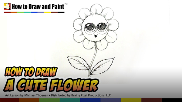 How to Draw a Cute Flower