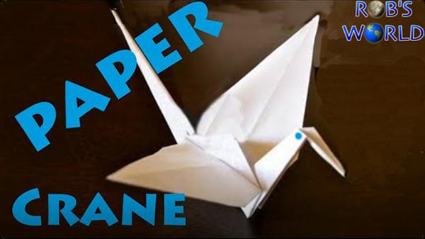 How to Make a Paper Crane (Origami)