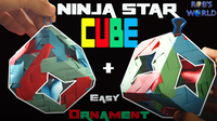 How to Make a Ninja Star Cube (+Ornament)