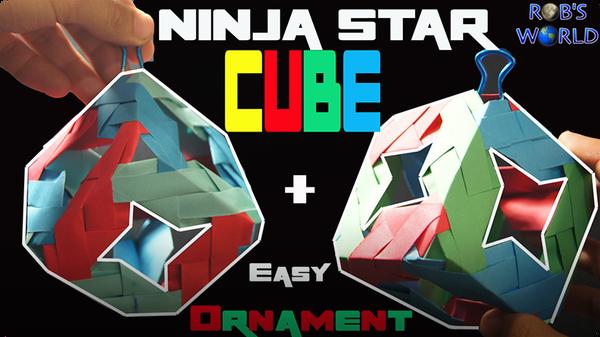 How to Make a Ninja Star Cube (+Ornament)