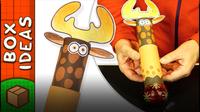 Toilet Roll Reindeer Gift Wrap