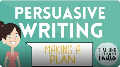 Persuasive Writing for Kids: Planning and Pre-Writing