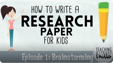Writing a Research Paper: Brainstorming