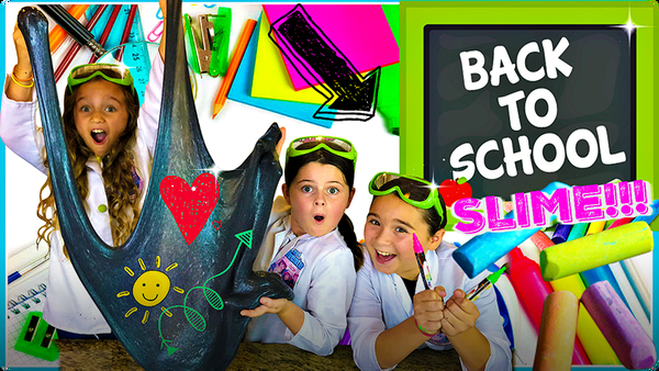DIY Back To School CHALKBOARD SLIME!
