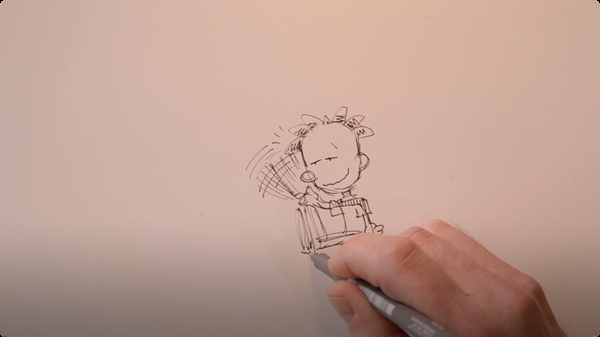 Drawing Big Nate: The Soda Bottle