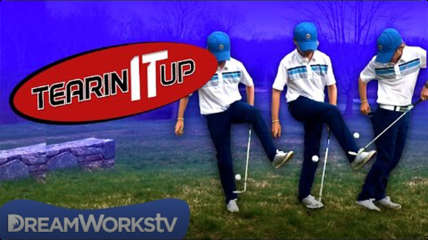 12-Year-Old Amazing Golf Trick Shot | TEARIN' IT UP