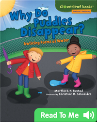 Why Do Puddles Disappear?: Noticing Forms of Water