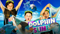 How to Make MAGICAL DOLPHIN SLIME with Sparkly Glitter!