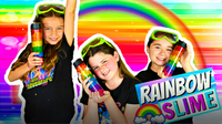 Learn How to Make RAINBOW SLIME with Sparkly Glitter!