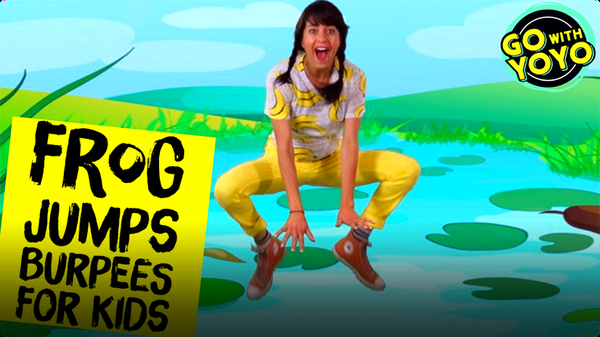 GO With YOYO: Frog Jumps and Burpees for Kids!