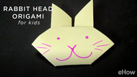 Origami Rabbit Head Crafts