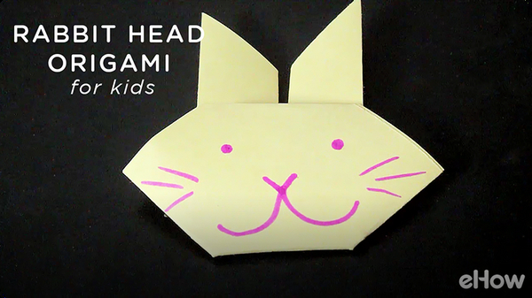 Origami Rabbit Head Crafts