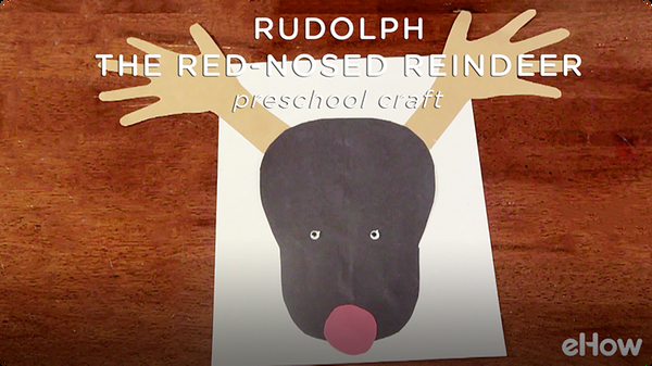 Preschool Craft for Rudolph the Red Nosed Reindeer With Handprints
