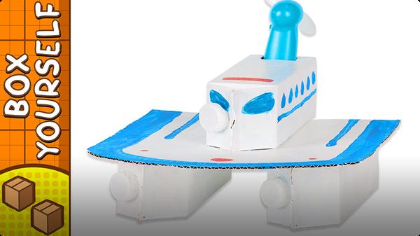 Craft Ideas with Boxes - Catamaran