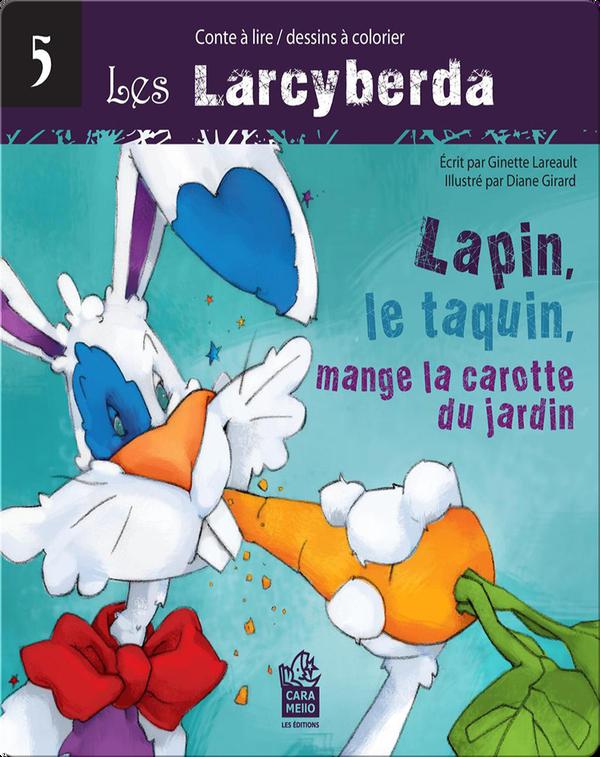 Lapin, le taquin, mange la carotte du jardin