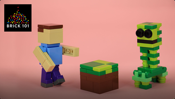How To Build LEGO Minecraft Creeper, Steve, and Grass Block