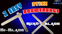 How to Make 2 Easy DIY Stick Boomerangs! (Bi- and Quad-Blade)