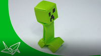 Minecraft Origami Creeper