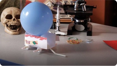 How to Demonstrate Newton's Third Law of Motion using a Paper Car & a Balloon