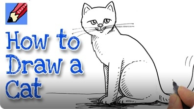 How to Draw a Cat Real Easy