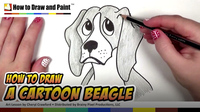 How to Draw a Cartoon Beagle