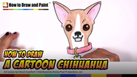 How to Draw a Cartoon Chihuahua