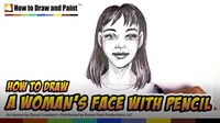 How to Draw a Woman's Face With Pencil