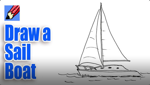 How to Draw a Sail Boat Real Easy