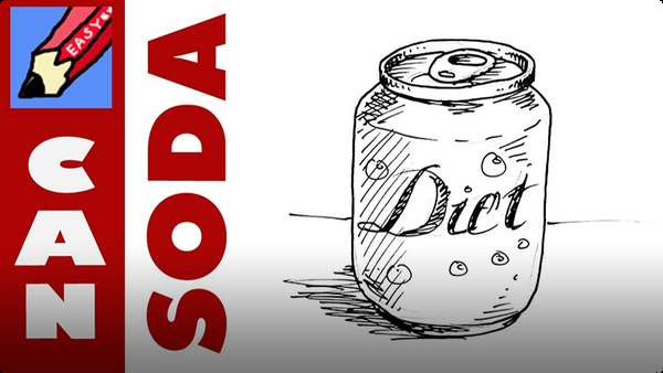 How to Draw a Soda Can Real Easy