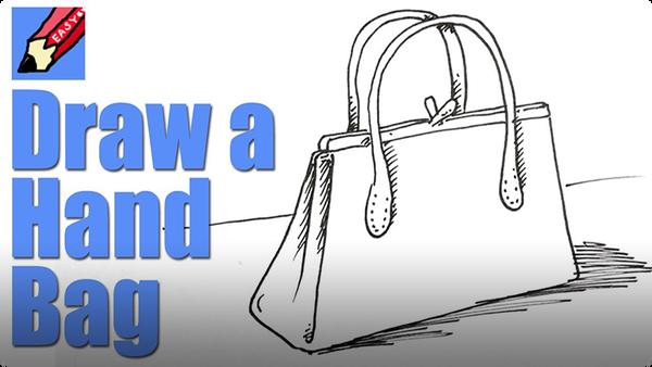 How to Draw a Handbag Real Easy