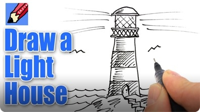 How to Draw a Lighthouse Real Easy