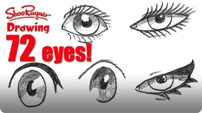 How to Draw 72 Eyes in Different Styles
