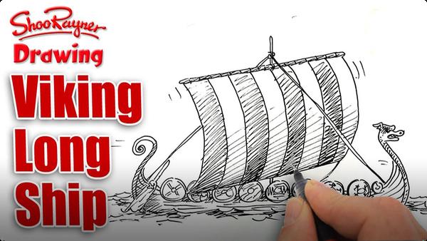 How to Draw a Viking Longship