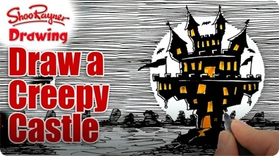 Draw a Creepy Castle