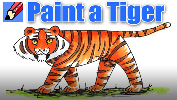 How to Paint a Tiger Real Easy
