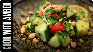Refreshing Thai Cucumber Salad | Cook With Amber