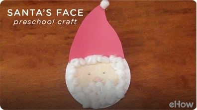 Santa's Face Preschool Crafts
