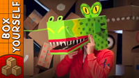Cardboard Dragon Mask - Crafts Ideas For Kids