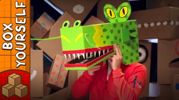 Cardboard Dragon Mask - Crafts Ideas For Kids