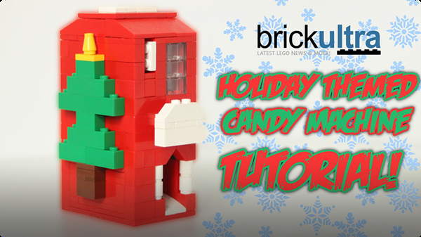 Holiday Themed LEGO Candy Machine Tutorial Instructions