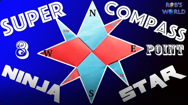 How to Make a Super 8-Point Ninja Star (Compass Star)