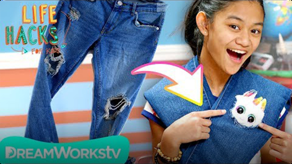 Unicorn Jean Patch + More Clothing Emergency Hacks | Life Hacks For Kids