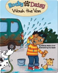 Rocky And Daisy Wash The Van