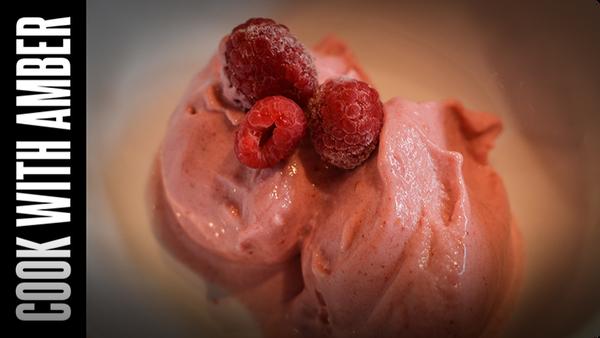 Raspberry 'Ice Cream' | Cook With Amber