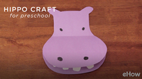 Hippo Preschool Craft